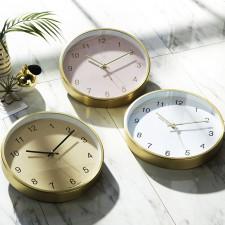 [HC]메탈 샴페인골드 30cm 무소음벽시계