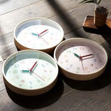 [HC]자작나무 어리이시계공부 30cm 무소음벽시계