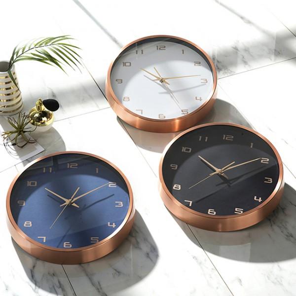 [HC]메탈 로즈골드 32cm 무소음벽시계